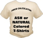 Ash & Natural Colored T Shirts